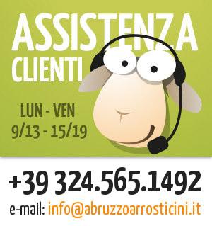 Assistenza clienti abruzzo arrosticini, chiama il 324 56 51 492 oppure scrivi una email a info@abruzzoarrosticini.it