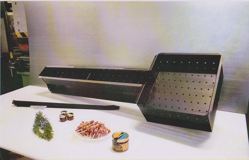 Fornacella Professionale Acciaio Inox per Arrosticini Fissa da 240 Cm